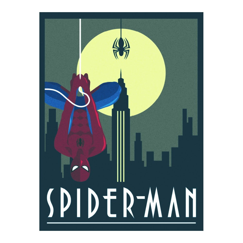 Obraz Pyramid International Marvel Deco Spider-Man Hanging, 30 x 40 cm