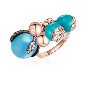 Prsten v barvě růžového zlata s krystaly Swarovski Lilly & Chloe Demar, vel. 58