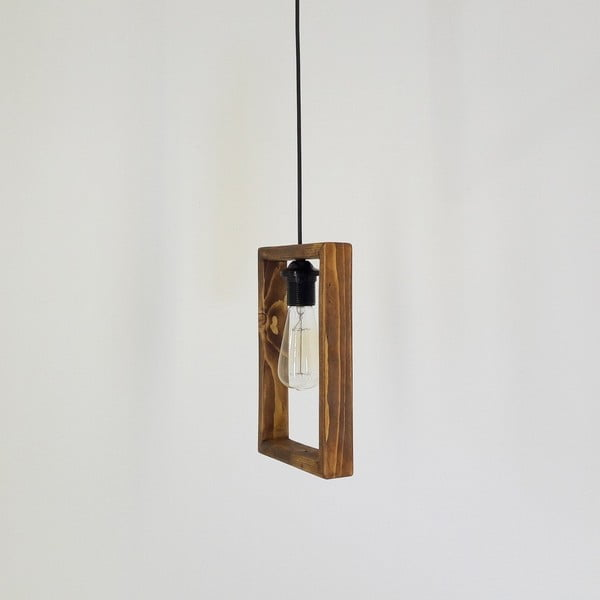 Závěsné svítidlo z borovicového dřeva Dionisios