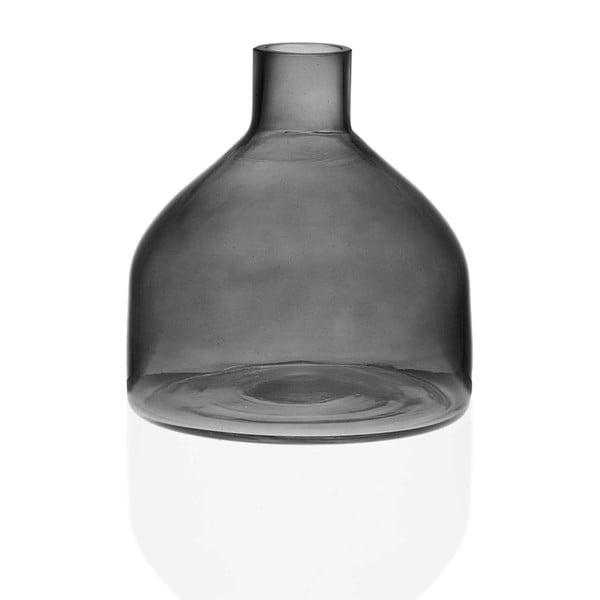 Šedá skleněná váza Versa Prahna, výška 19,5 cm