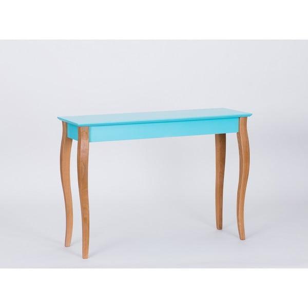 Tmavě tyrkysový odkládací stolek Ragaba Console,délka105cm