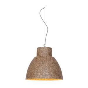 Hnědé závěsné světlo z dřevěné drti Good&Mojo Cebu