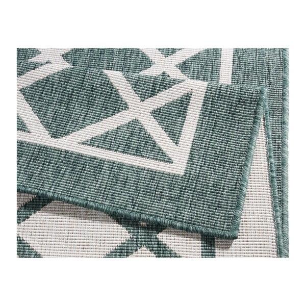 Covor reversibil adecvat interior/exterior Bougari Sydney, 80 x 350 cm, verde-crem