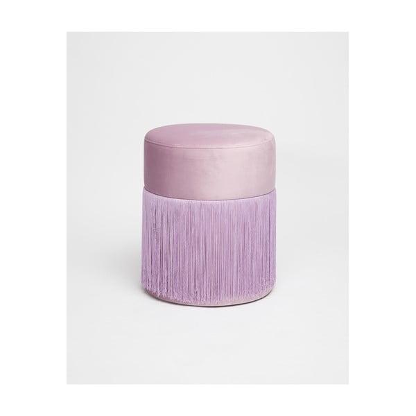 Světle fialový puf se sametovým potahem Velvet Atelier, ø36cm