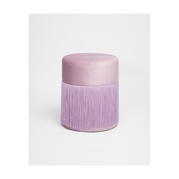 Jasnofioletowy puf z aksamitnym obiciem Velvet Atelier, ø 36 cm