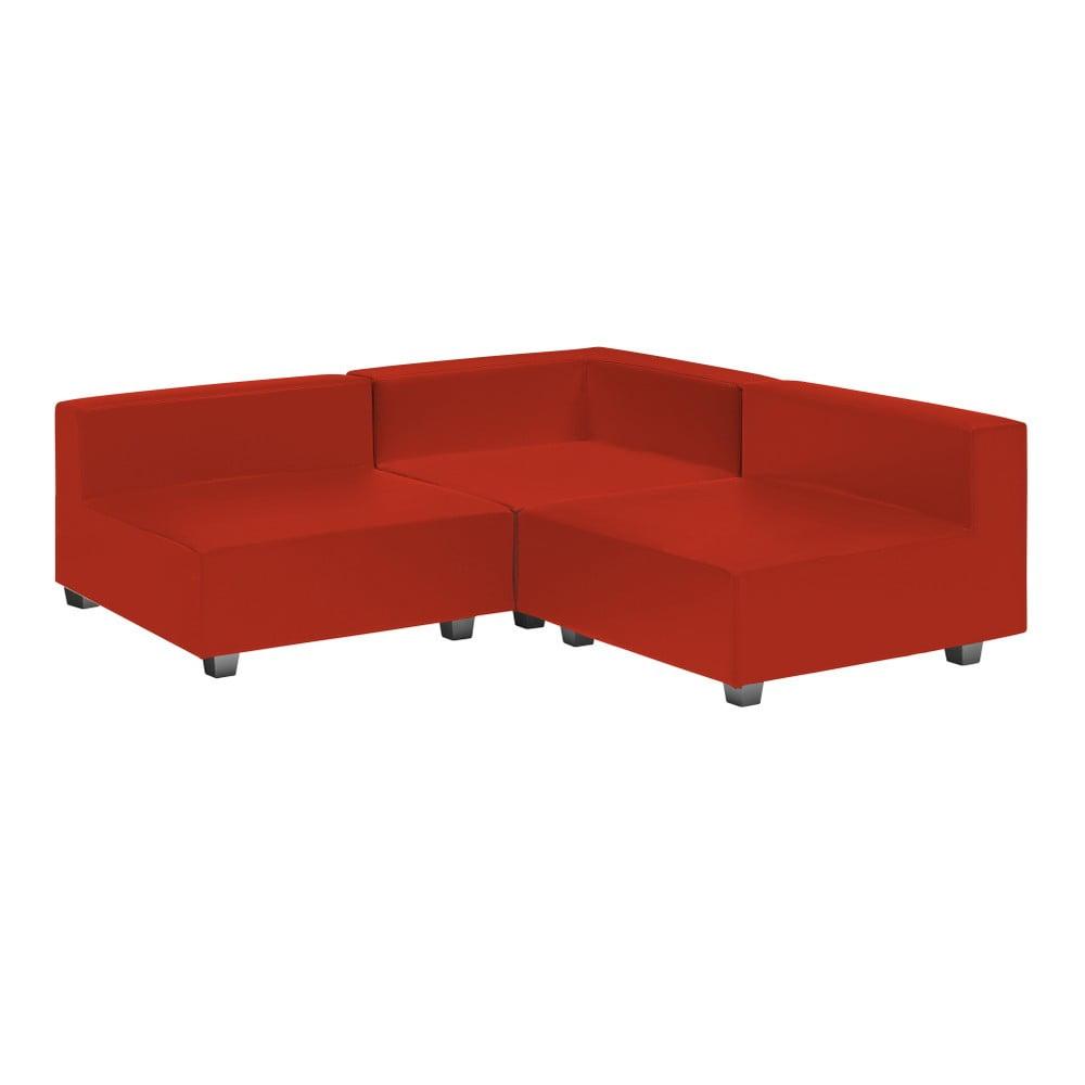 3dílná červená rohová pohovka 13Casa Silvia