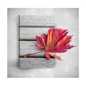 Nástěnný 3D obraz Mosticx Red Leaf, 40 x 60 cm