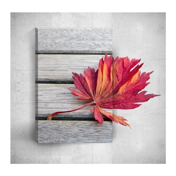 Tablou de perete 3D Mosticx Red Leaf, 40 x 60 cm