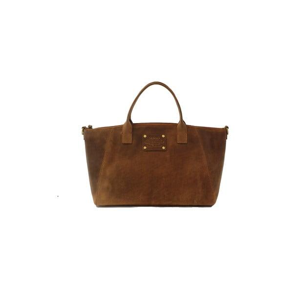 Hnědá kožená kabelka O My Bag Fly Violet Midi