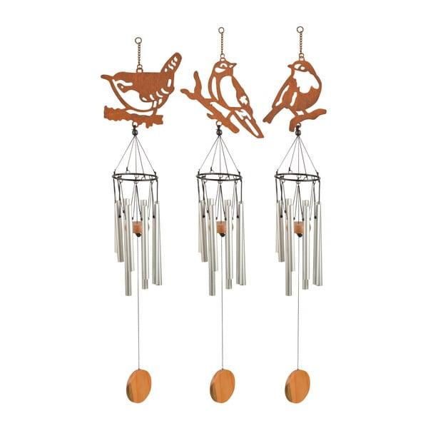 Sada 3 závěsných zvonkoher s motivem ptáčků Esschert Design