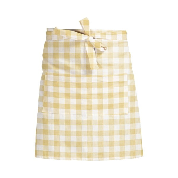 Fartuch kuchenny Linen Couture Delantal de Lino Yellow Vichy
