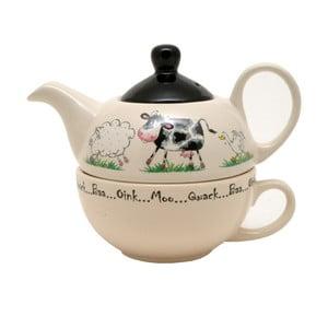 Ceainic și cană, 2 în 1,  Price & Kensington Home Farm, 400 ml