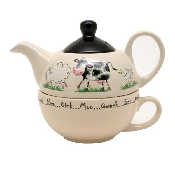 Dzbanek do herbaty z filiżanką Price & Kensington Home Price & Kensington Farm