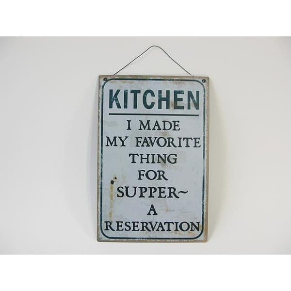Plechová cedule Kitchen