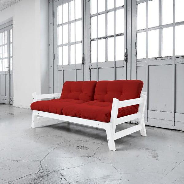 Rozkládací pohovka Karup Step White/Red