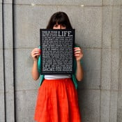 Plakát Manifesto Black, 30x41 cm