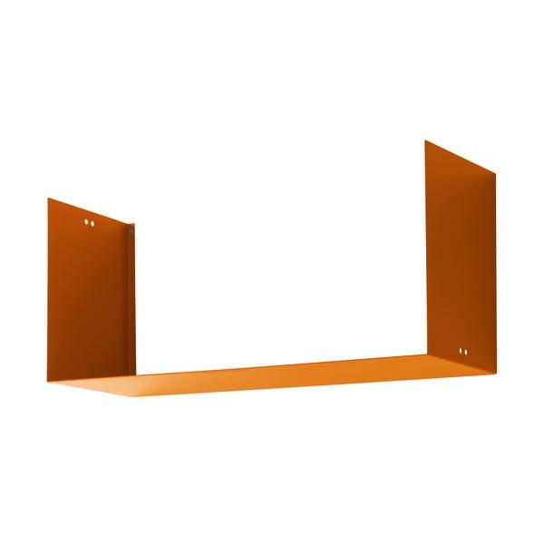 Nástěnná police Geometric Three, oranžová