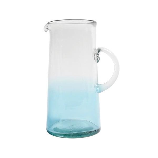 Modrý skleněný džbán Nordal Mexican Bubble