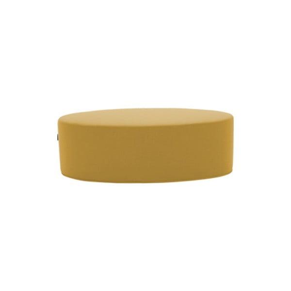 Żółty puf Softline Bon-Bon Vision Yellow, dł. 60 cm