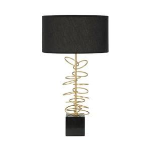 Černá stolní lampa s konstrukcí ve zlaté barvě Mauro Ferretti Rings