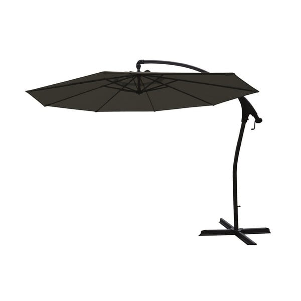 Czarny boczny parasol ogrodowy Hartman Tenero, ø 3 m
