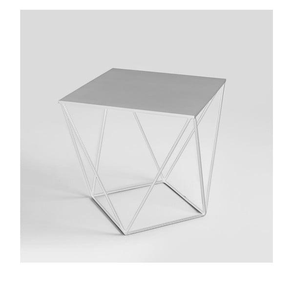 Daryl fehér tárolóasztal, 60 x 60 cm - Custom Form