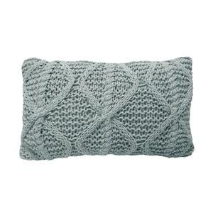 Světle šedý pletený polštář OVERSEAS Diamond,30x50cm