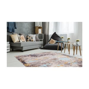 Koberec odolný proti skvrnám Floorita Painting Grey, 80x150cm