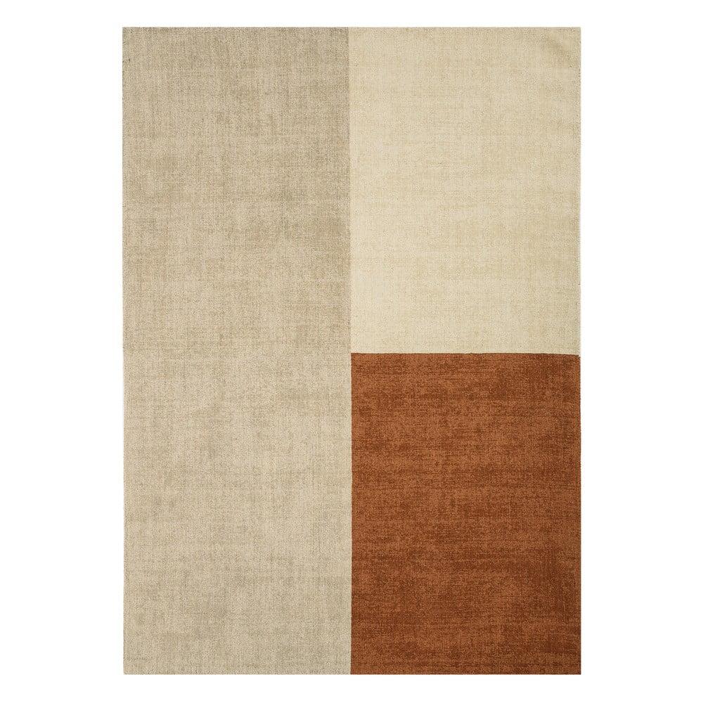Béžovo-hnědý koberec Asiatic Carpets Blox, 160 x 230 cm