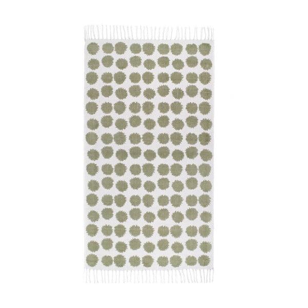 Zelenobílý koberec Roomblush Fluff,80x140cm