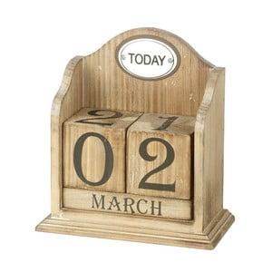 Dřevěný stolní kalendář Perpetual