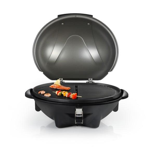 Černý elektrický stolní i stojanový gril Tristar, příkon 2200W