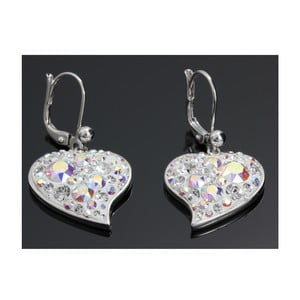 Náušnice Swarovski Elements Trendy Hearts AB