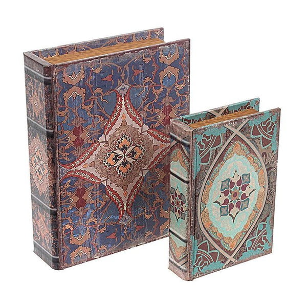 Sada 2 krabic Blue Books