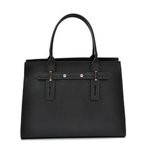 Černá kožená kabelka Mangotti Bags Marcia