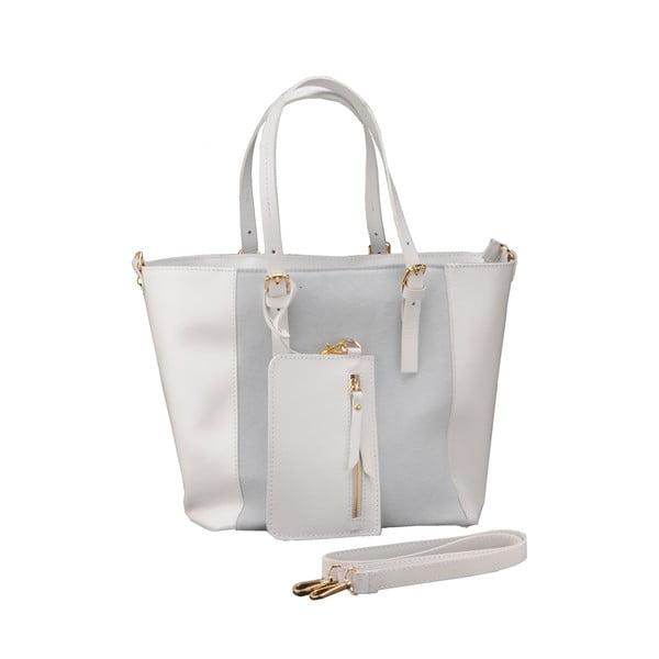 Kožená kabelka Gomeisa, bílá