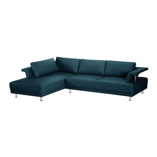 Canapea cu șezlong pe partea stângă Florenzzi Einaudi, turcoaz