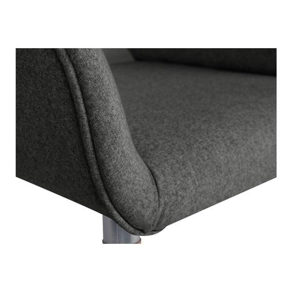 Tmavě šedé křeslo BSL Concept Vera