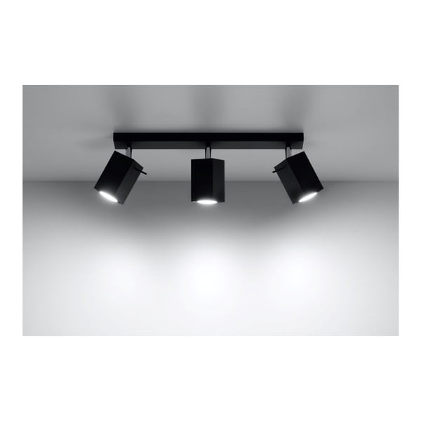 Černé stropní světlo Nice Lamps Toscana3