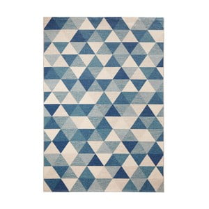 Covor Mint Rugs Diamond Triangle, 133 x 195 cm, albastru