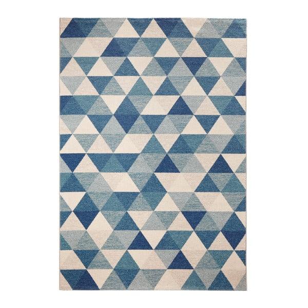 Modrý koberec Mint Rugs Diamond Triangle, 80x150cm