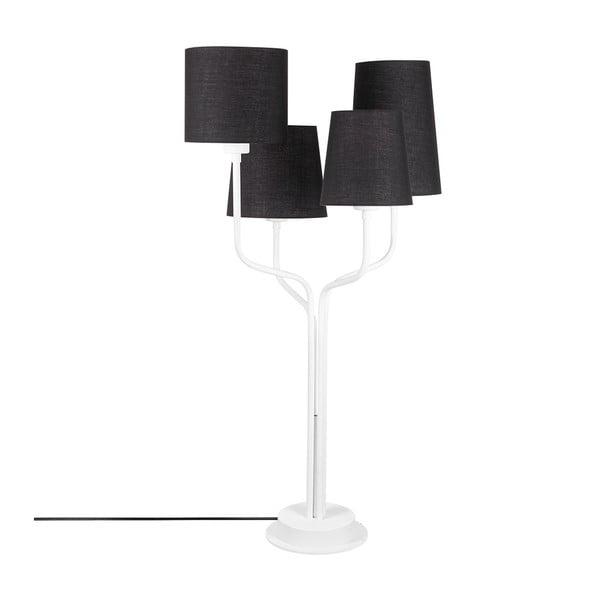 Aposto fehér fém asztali lámpa fekete búrával - Opviq lights