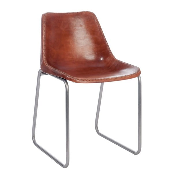 Židle Leather Camel, 44x49x78 cm