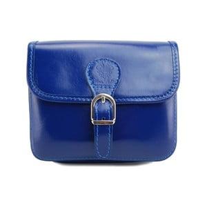 Sytě modrá kabelka z pravé kůže GIANRO' Shoppa