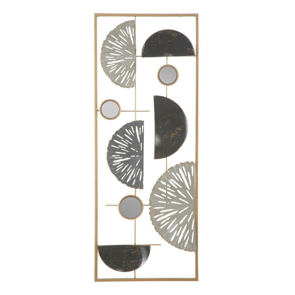 Nástěnná kovová dekorace Mauro Ferretti Geometric, 28,5x74cm