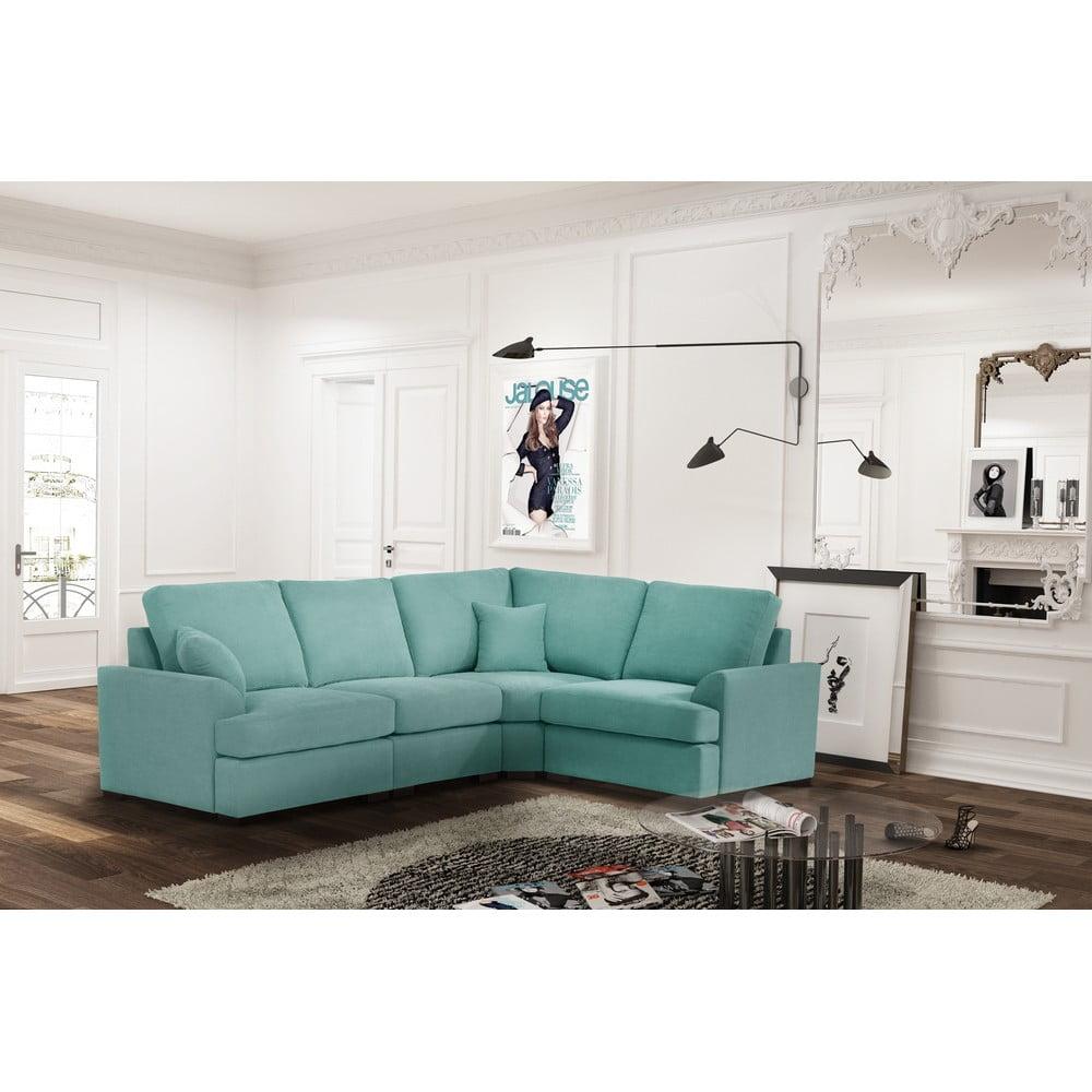 rohov pohovka jalouse maison irina prav roh mentolov bonami. Black Bedroom Furniture Sets. Home Design Ideas