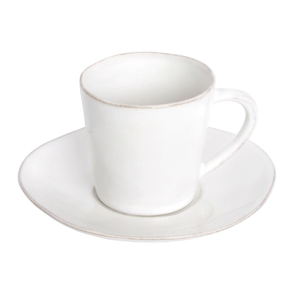 Bílý keramický šálek na čaj s podšálkem Ego Dekor Nova,190ml