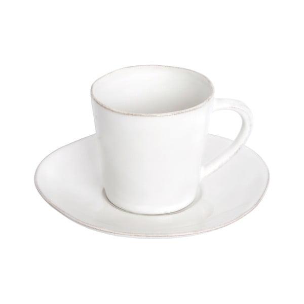 Nova fehér agyagkerámia teáscsésze és csészealj, 190 ml - Costa Nova