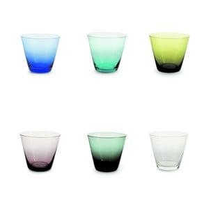 Sada 6 barevných sklenic Villa d'Este Sardinia