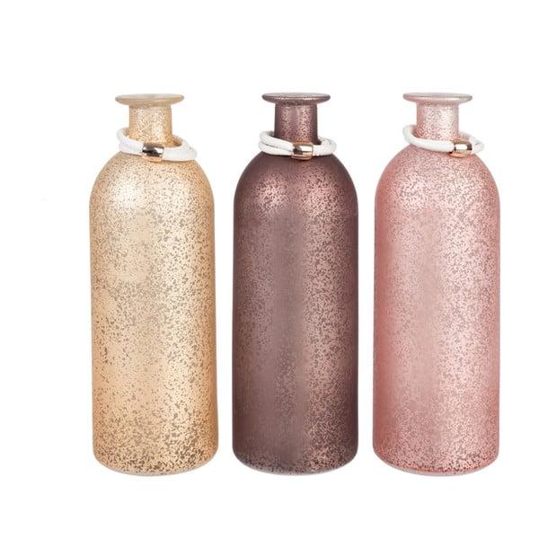Sada 3 váz Bottle Pink